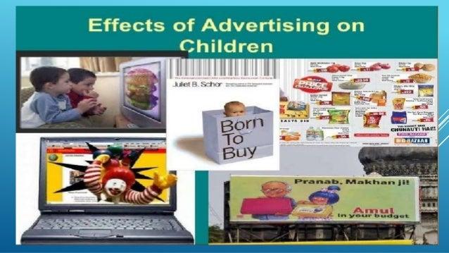 effect of advertisement on children- ppt