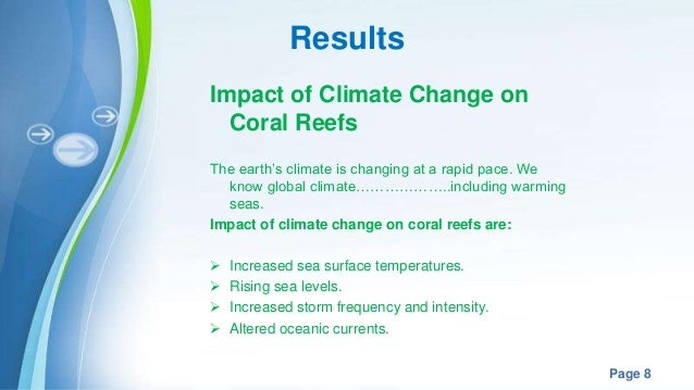 Impacts of climate change on marine organism coral reefs for Changes have been made that affect the global template