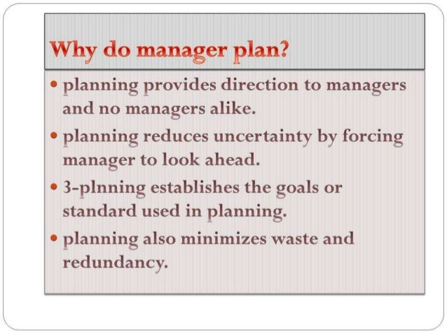 Impacts Of Planning On Organization Growth