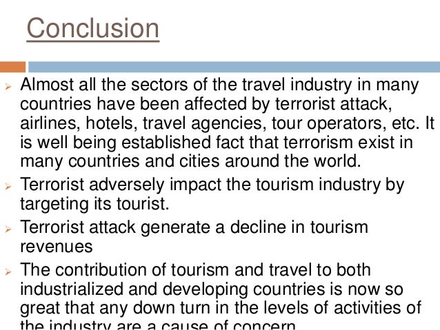 Impacts Of Terrorism On Indian Tourism
