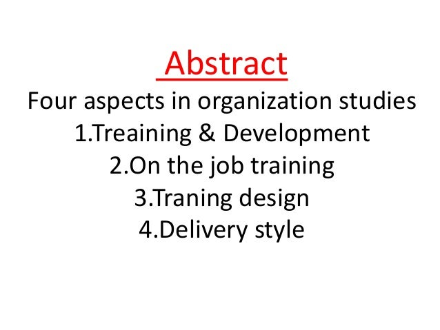 Questionnaire impact of training and development to organizational performance