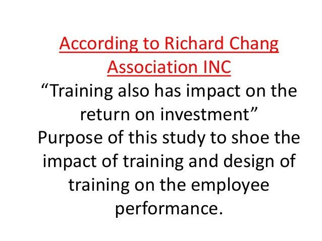 impact of training on performance Discover how it can impact your organization  how can corporate training impact your organization  to ensure greater efficiency in selection and performance .