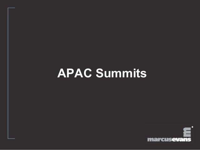 APAC Summits