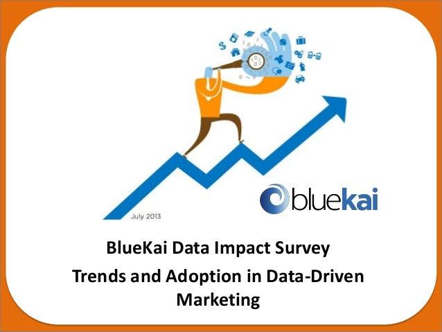 July 2013 BlueKai Data Impact Survey Trends and Adoption in Data-Driven Marketing