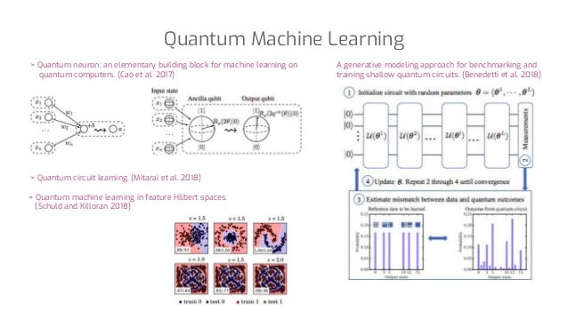 Quantum Machine Learning A generative modeling approach for benchmarking and training shallow quantum circuits. (Benedetti...