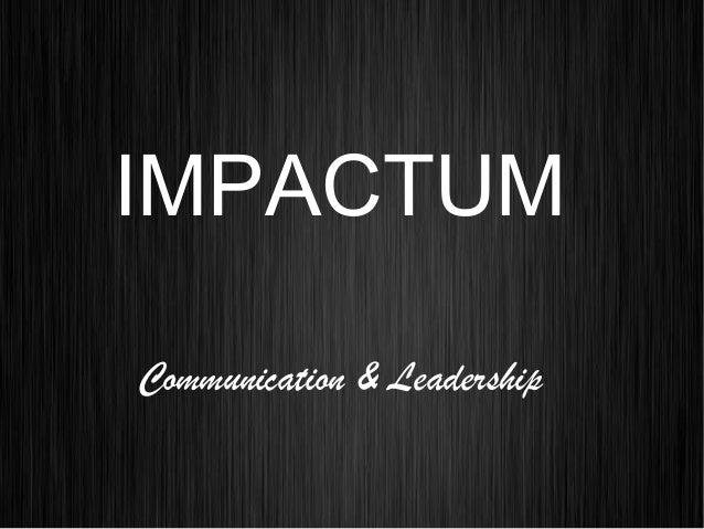 IMPACTUM Communication & Leadership