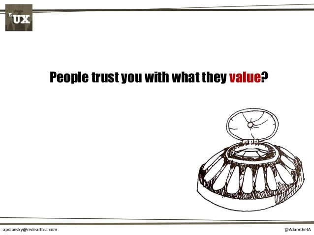 @AdamtheIAapolansky@redearthia.com People trust you with what they value?