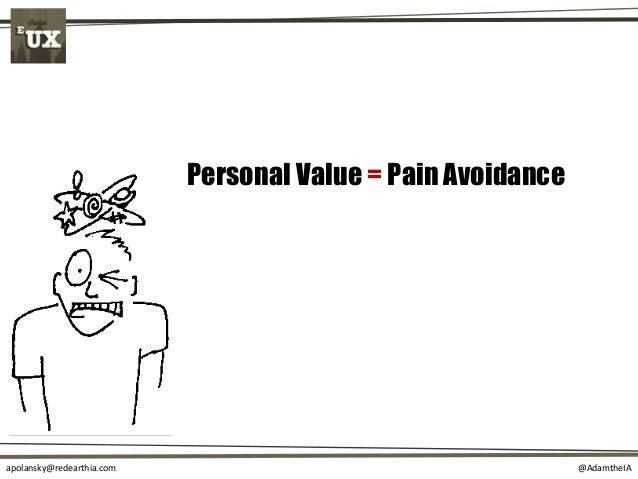 @AdamtheIAapolansky@redearthia.com Personal Value = Pain Avoidance