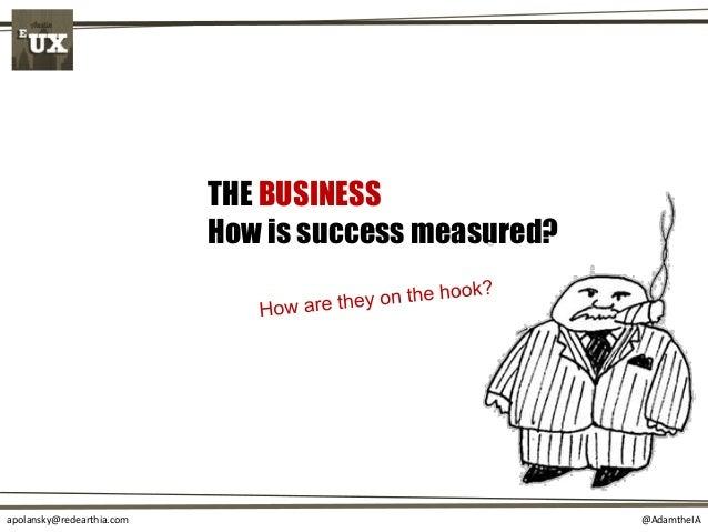 @AdamtheIAapolansky@redearthia.com THE BUSINESS How is success measured?