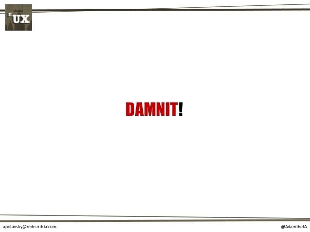 @AdamtheIAapolansky@redearthia.com DAMNIT!