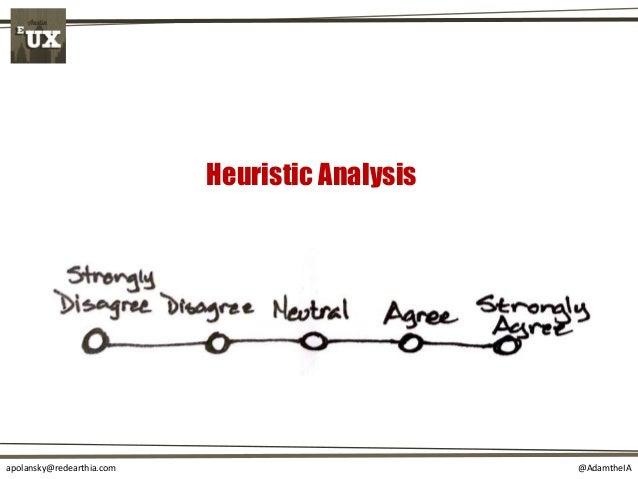 @AdamtheIAapolansky@redearthia.com Heuristic Analysis