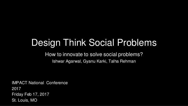 Design Think Social Problems