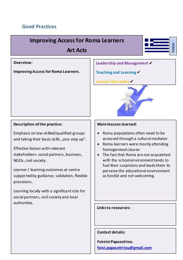 Leadershipand Management Teaching, Learningand AssessmentPractice Learner Outcomes 12 Good Practices Mainlessons learned: ...