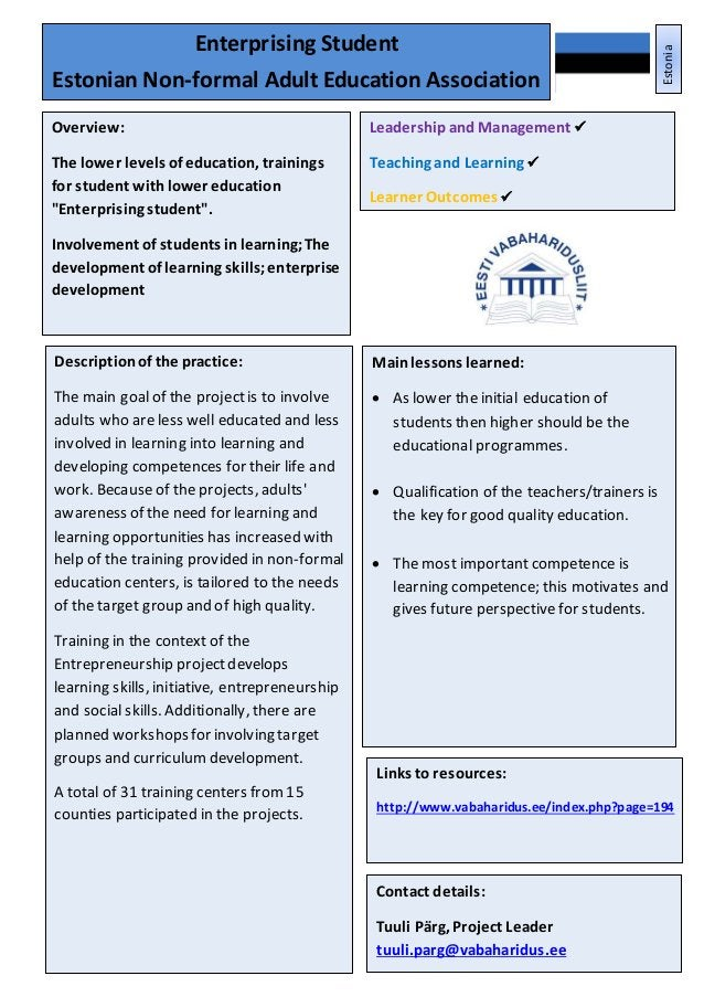 Leadershipand Management Teaching, Learningand AssessmentPractice Learner Outcomes 20 Mainlessons learned:  As lower the ...