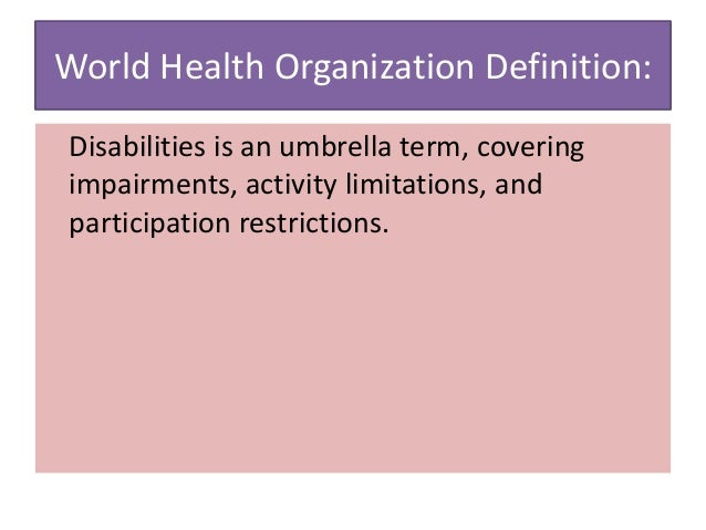 Impairment and medical evaluation