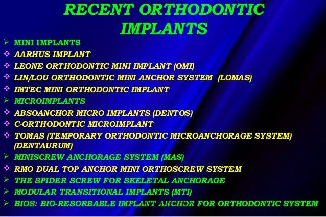 Implants In Orthodontic Treatment