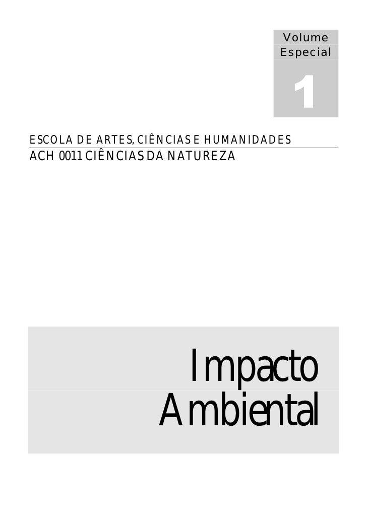 Volume                                      Especial     ESCOLA DE ARTES, CIÊNCIAS E HUMANIDADES ACH 0011 CIÊNCIAS DA NATU...