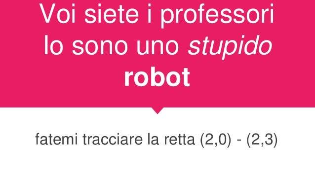 Regole si potrà intervenire per alzata di mano il robot vi risponderà con OK se interpellato il robot vi risponderà con NO...