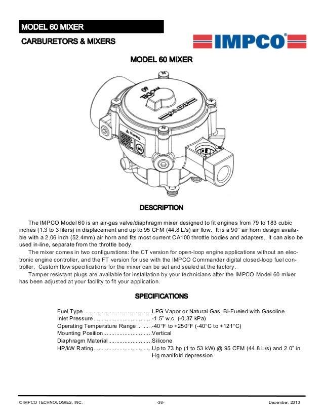 IMPCO DUAL FUEL ADAPTER CA100 MIXER TO 2 1//16 HOSE