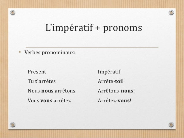 L 39 imp ratif for Portent verbe