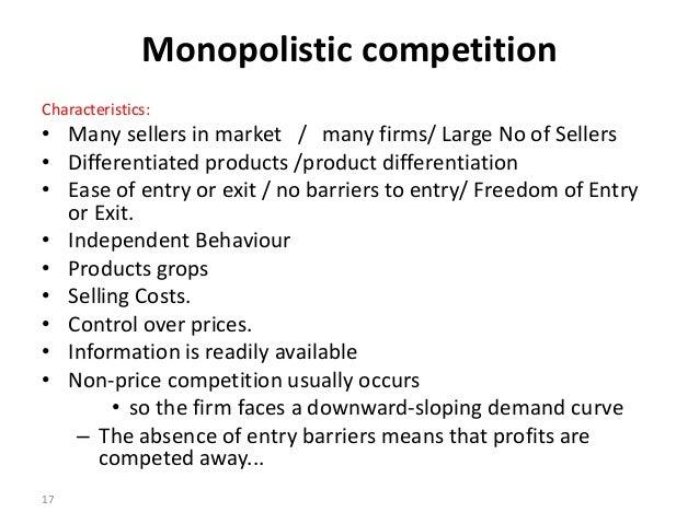 monopolistic competition advantages and disadvantages