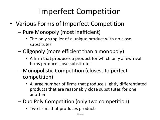 Difference Between Perfect and Imperfect Competition