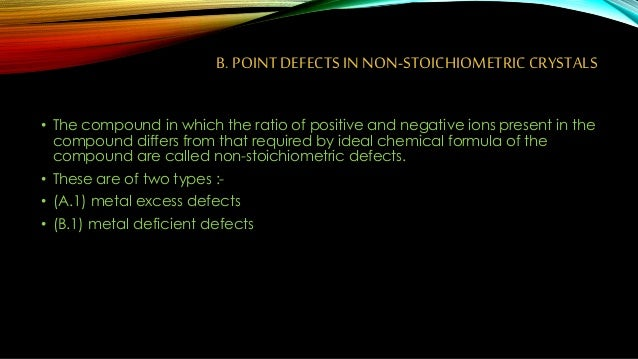 imperfection in solids Best answer: a solid with imperfection probably refers to a solid with a crystal lattice structure imperfections occur when the pattern of the crystal lattice is.