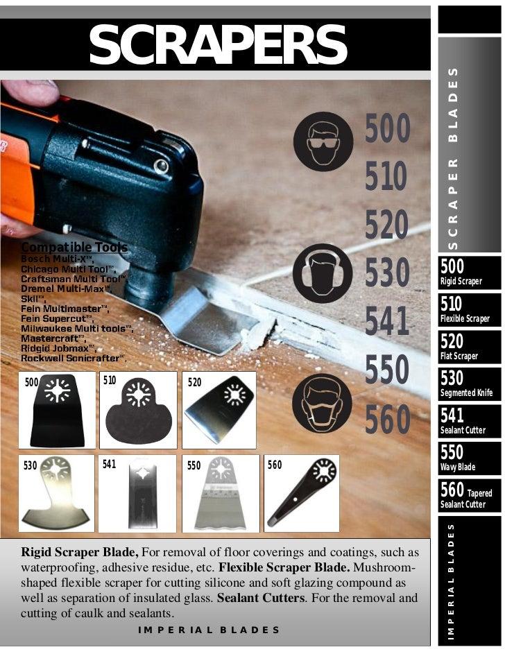 Tapered Sealant Cutter Oscillating Multi Tool Blade Rigid Dremel Fein Bosch