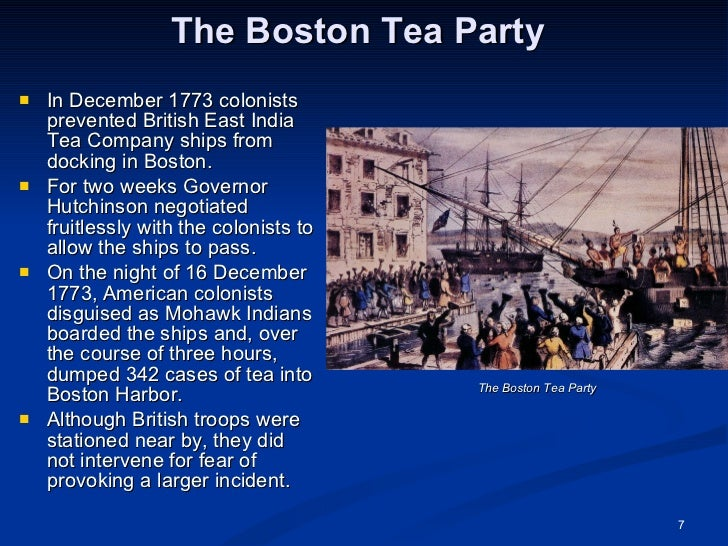 summary associated with the actual boston ma coffee party