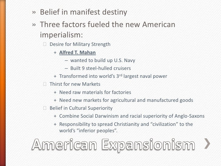 imperialism and the manifest destiny Impact of us imperialism and manifest destiny today 3 impact of us imperialism and manifest destiny today imperialism is a policy that ensures the extension of a countries power and influence through diplomacy or military force.