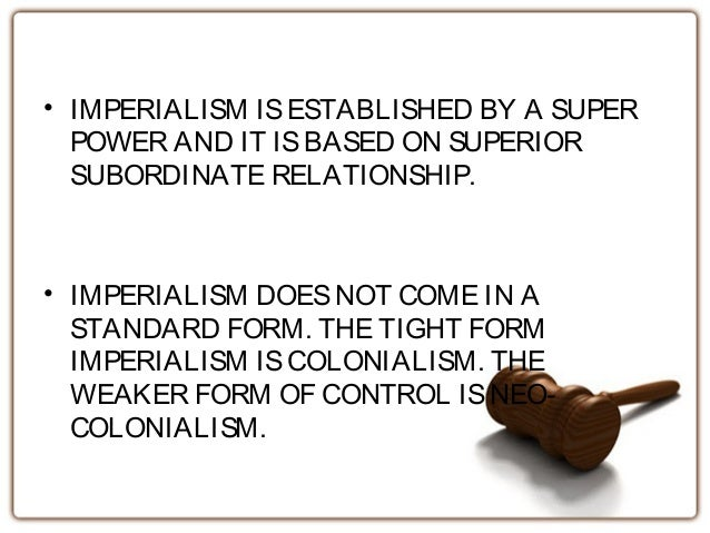 An introduction to the analysis of imperialism the total domination of the political economical and