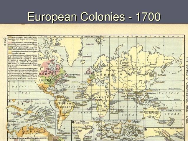 European Colonies - 1700