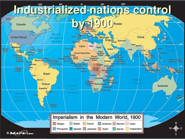Industrialized nations control by 1900