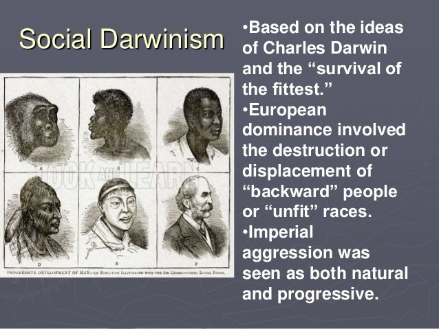 the ideological ties between darwinism social darwinism and imperialism Social darwinism in america theodore roosevelt was the 26th american president who served in office from september 14, 1901 to march 4, 1909 one of the important elements during his presidency was the negative effects of social darwinism.