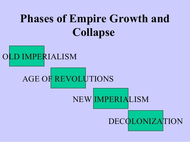 old imperialism vs new imperialism New imperialism - its differences and advantages over old imperialism new imperialism marks the era of unprecedented global expansion of european countries after the industrial revolution during the mid-to late nineteenth century.