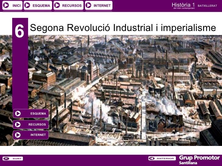 6 Segona Revolució Industrial i imperialisme INTERNET RECURSOS ESQUEMA