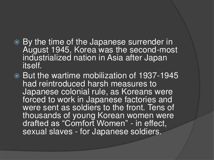 an introduction to the japanese colonial legacy in korea Review: lee hong yung, yong-chool ha, and clark w sorensen, eds, colonial rule & social change in korea, 1910-1945 (seattle, wa: university of washington, 2012.