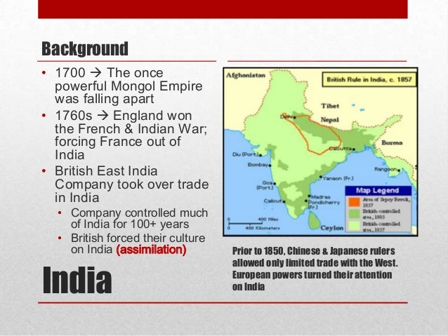 imperialism and india The first british empire was a mercantile one  (the protection of india from the  which saw imperialism as a manifestation of what kipling would refer to as.