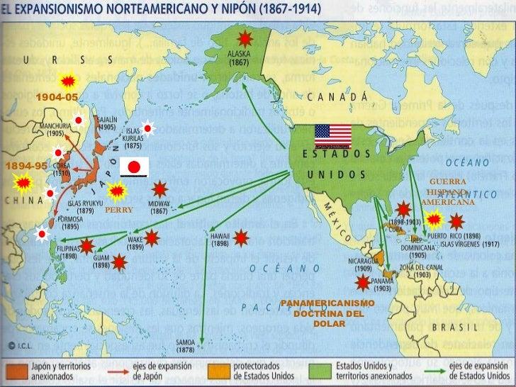 Resultado de imagen de imperialismo estadounidense mapa