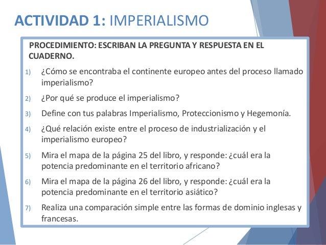 Imperialismo Y Colonialismo Del Siglo Xix