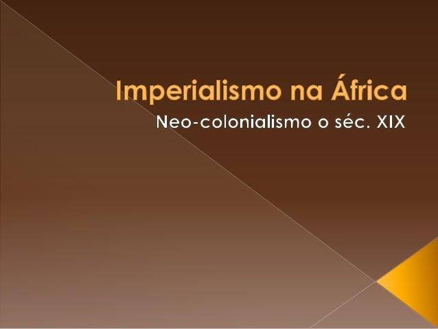 A colonização da África ocorreu no intuito de obter lucros por parte dos europeus. Os missionários religiosos iniciaram a ...