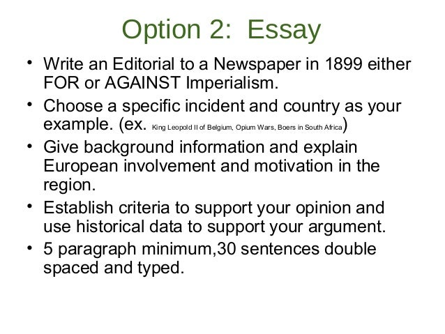 Anti imperialism essay