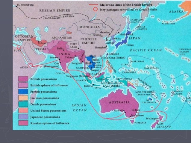 Map Of Asia During Imperialism.Imperialism Second Wave