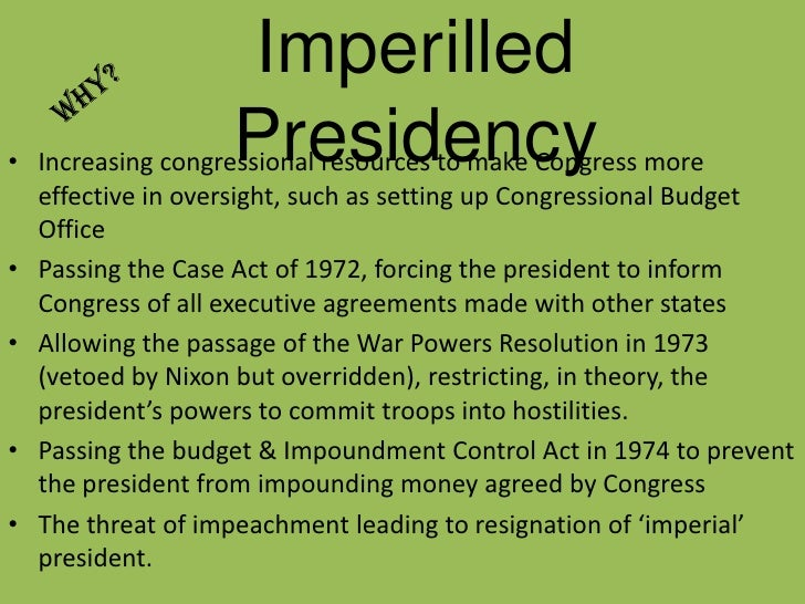 restraining imperial presidency A not-so-imperial obama presidency after prodding the president as an apologist for american interests partisan cries for presidential self-restraint.