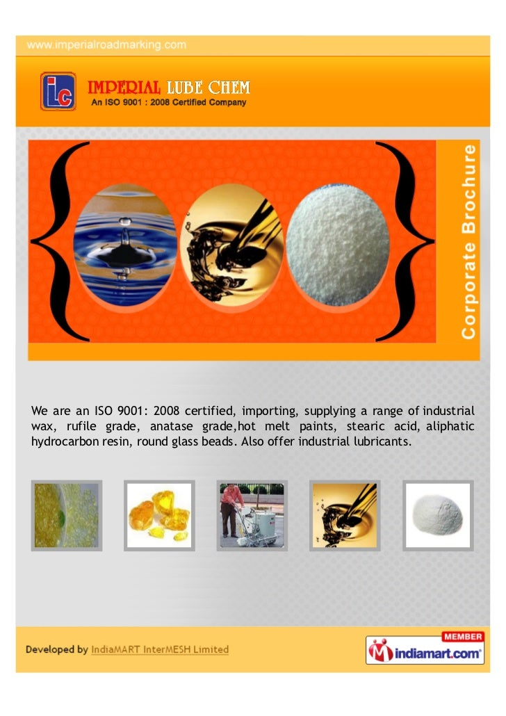 We are an ISO 9001: 2008 certified, importing, supplying a range of industrialwax, rufile grade, anatase grade,hot melt pa...