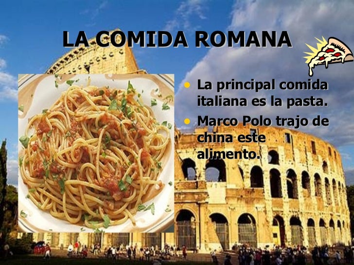 Imperio romano for Pasta tipica romana