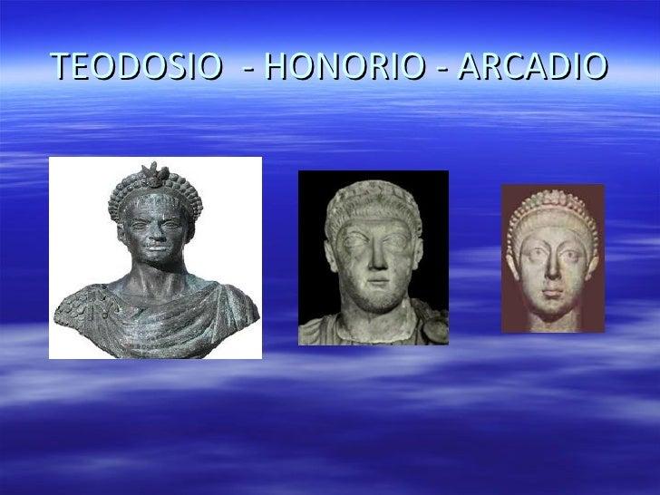 Resultado de imagen para honorio y arcadio emperador romano