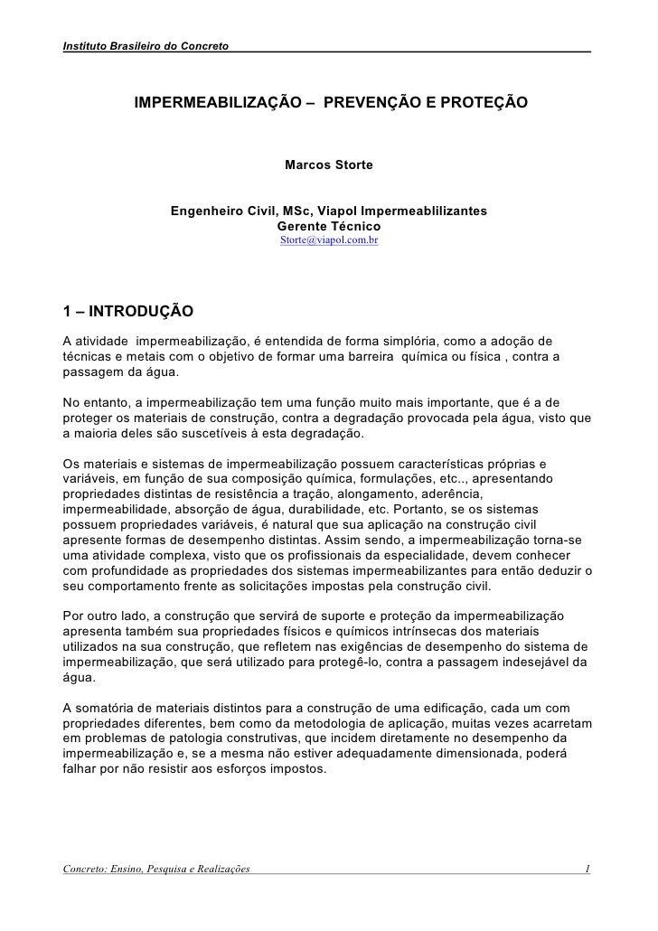 Instituto Brasileiro do Concreto                                                           .                    IMPERMEABI...