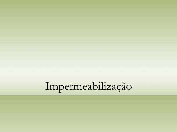 Impermeabilização