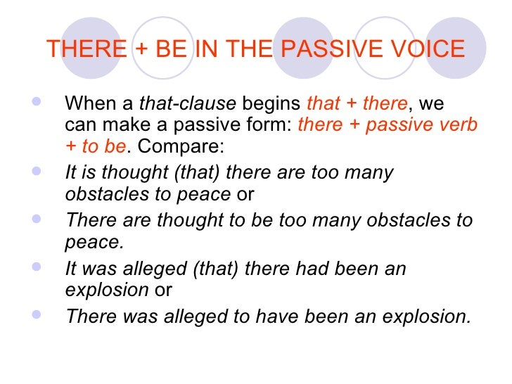 how to use passive in a sentence